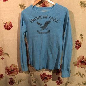 American Eagle Blue Long sleeve shirt